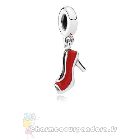 Offres Spéciales Pandora Pandora Dangle Breloques Rouge Stiletto Dangle Charm Red Enamel