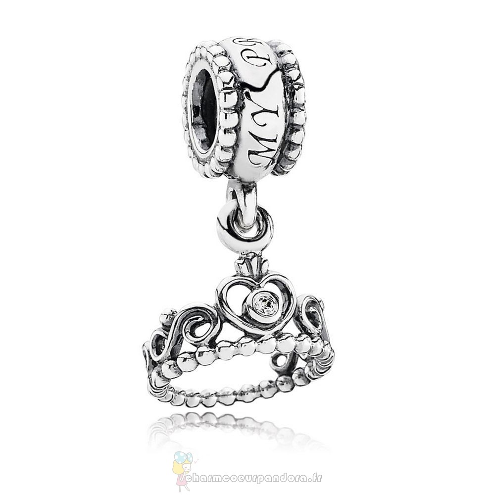 Offres Spéciales Pandora Pandora Fairy Tale Charms Ma Princess Dangle Charm Clear Cz