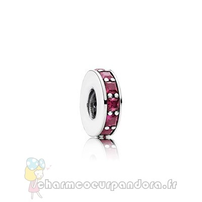 Offres Spéciales Pandora Pandora Espaceurs Charms Eternity Spacer Synthetic Ruby