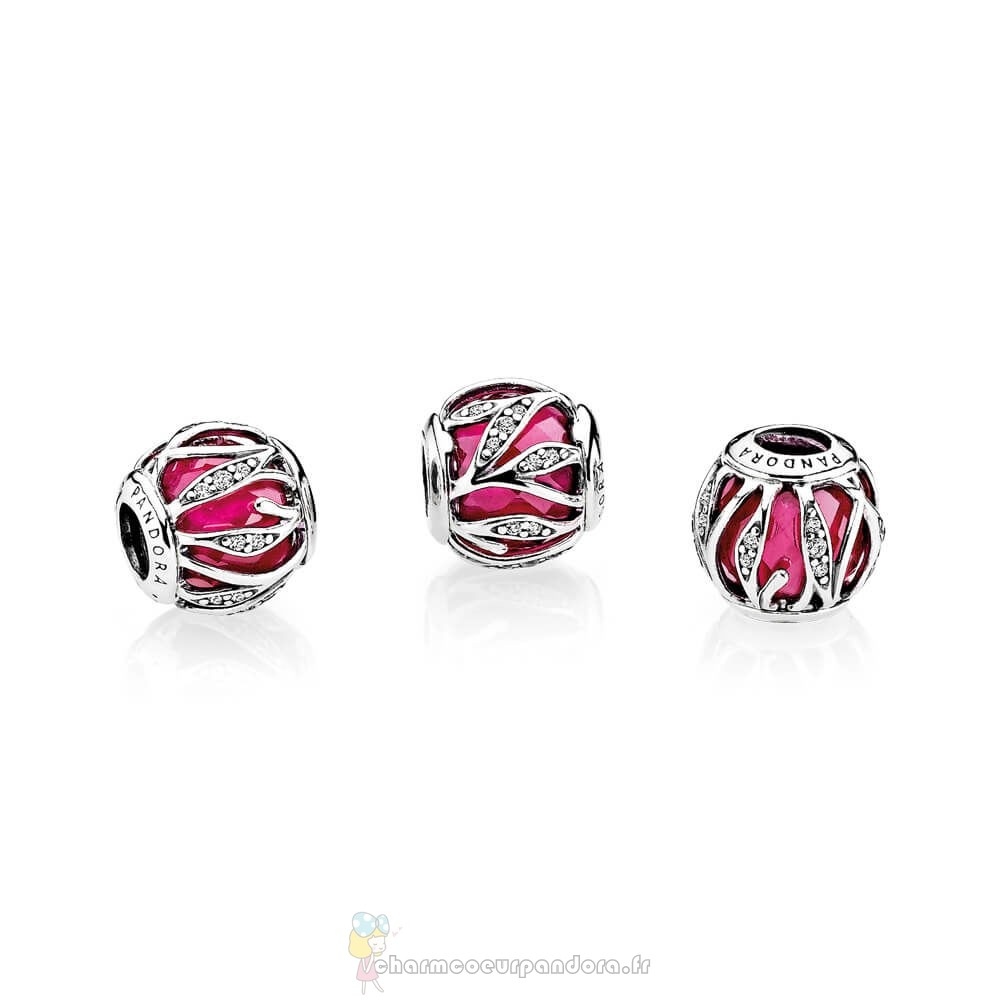 Offres Spéciales Pandora Nature Charms Nature'S Radiance Synthetique Ruby Clear Cz
