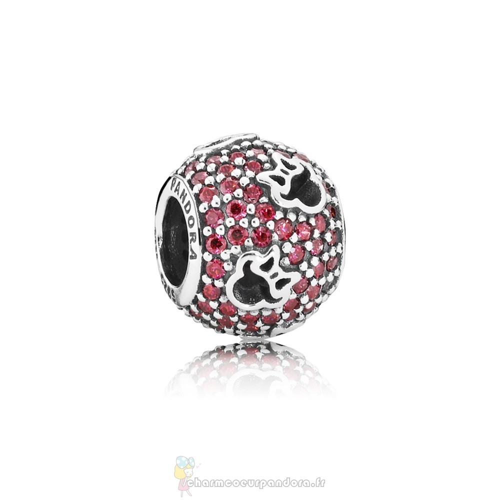 Offres Spéciales Pandora Pandora Sparkling Paves Charms Disney Minnie Silhouettes Charm Red Cz